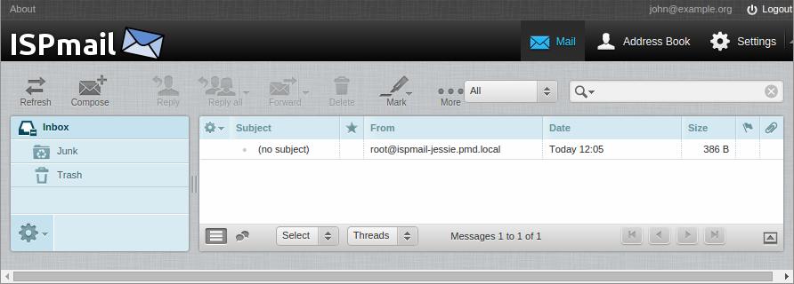 ispmail-jessie-roundcube-john-inbox